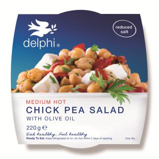 Medium hot chick pea salad