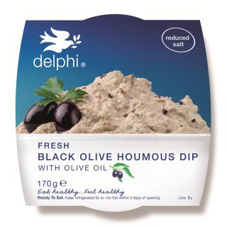 Black olive houmous dip