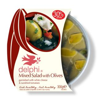 Mixed salad with olives