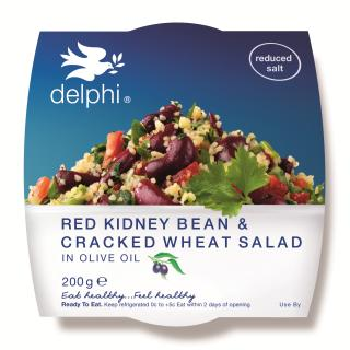 Red kidney bean and cracked wheat salad