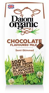 Chocolate flavoured Daioni organic milk 200ml