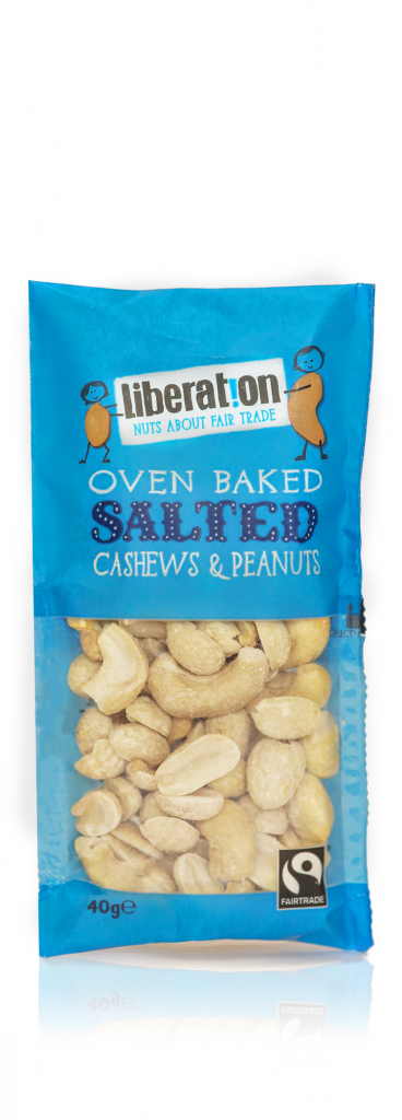 Liberation Fairtrade Oven Baked Salted Cashews and Peanuts