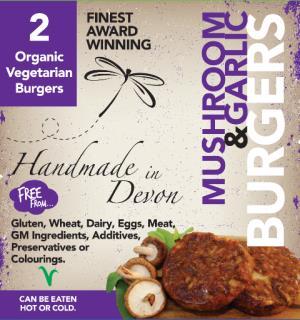 Organic Mushroom & Garlic Burger