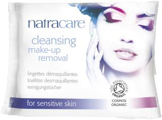 Natracare Cleansing and make-up removal wipes