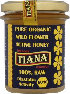 TIANA Fairtrade Organics Raw Active Wild Mountain Flower Honey (Enzyme Diastase Activity 10+)