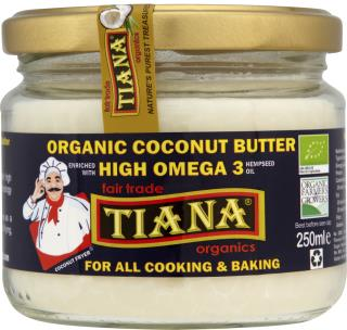 TIANA Fairtrade Organics Organic Omega 3 Organic Coconut Cooking Butter