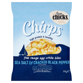 Chirps – Sea Salt & Black Pepper Flavour Egg Chips