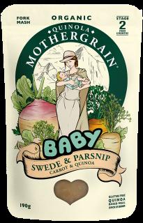 Quinola Mothergrain Baby Meal: Swede, Parsnip & Quinoa (stage 2/ 8months+)