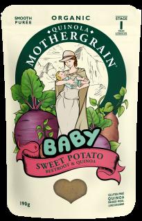 Quinola Mothergrain Baby Meal: Sweet Potato, Beetroot & Quinoa (Stage 1/ 6months+)