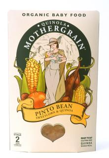 Quinola Mothergrain Baby Meal: Pinto Bean, Sweetcorn & Quinoa (Stage 2/ 8months+)