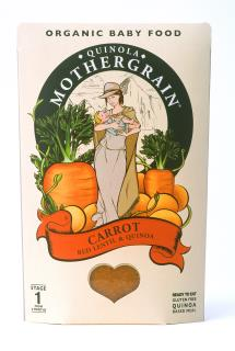 Quinola Mothergrain Baby Meal: Carrot, Red Lentil & Quinoa (Stage 1/ 6months+)