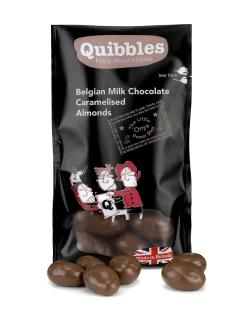 Quibbles, Belgian Milk Chocolate Caramelised Almonds
