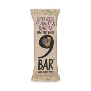 NINE Breakfast – Peanut & Raisin Seed Bar 50g