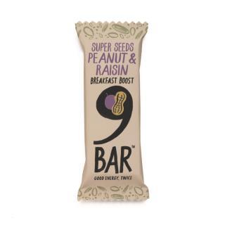 NINE Breakfast – Peanut & Raisin Seed Bar 50g