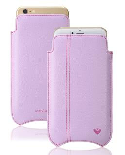 NUEVUE iPhone 6, 6s Plus Case Sugar Purple with Tan Antimicrobial Interior & Purple Stitching