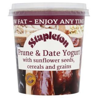 Stapleton Low Fat Prune & Date Yogurt with Sunflower seeds, Cereal & Grains