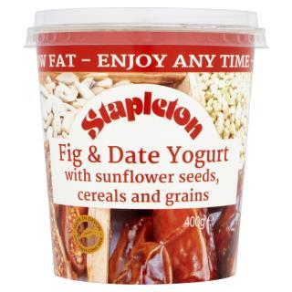 Stapleton Low Fat Fig & Date Yogurt with Sunflower Seeds, Cereal & Grains