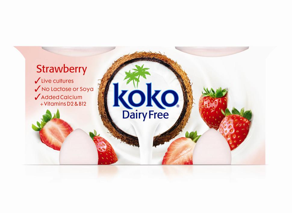 Koko Dairy Free Strawberry Yogurt 2x125g