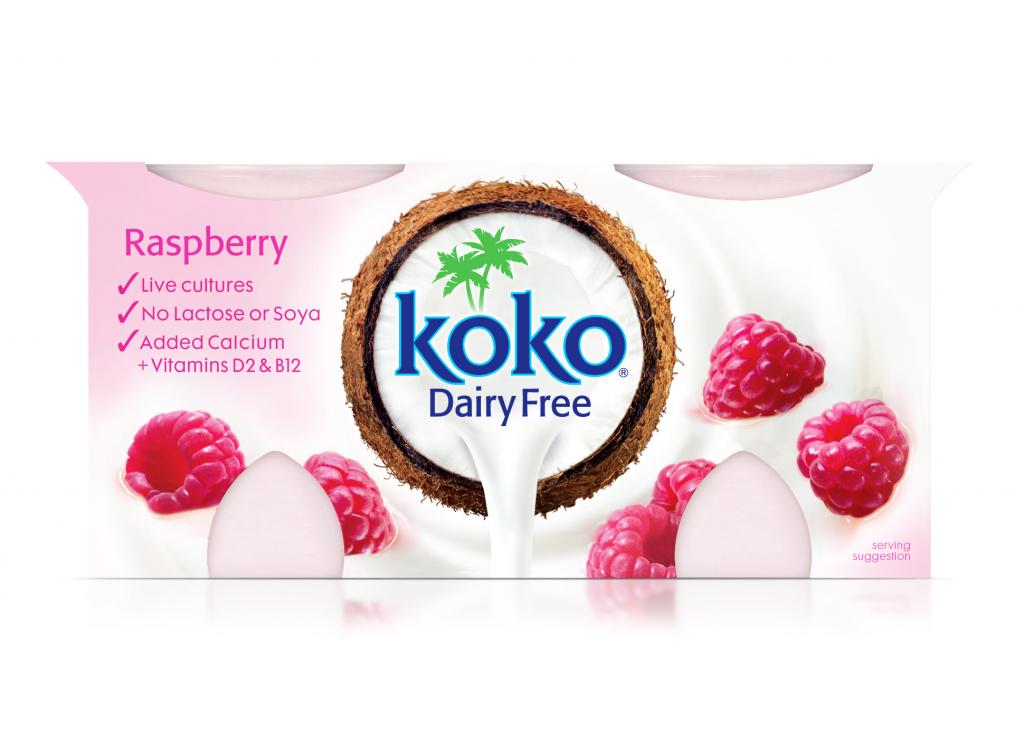 Koko Dairy Free Raspberry Yogurt 2x125g