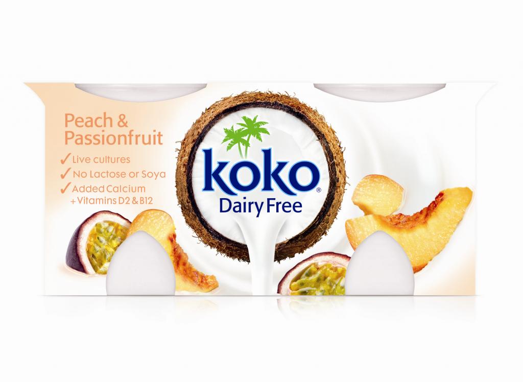 Koko Dairy Free Peach & Passionfruit Yogurt 2x125g