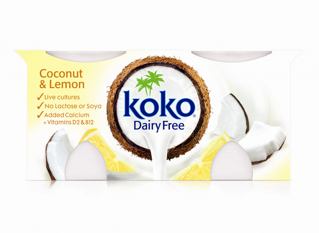 Koko Dairy Free Coconut & Lemon Yogurt 2x125g