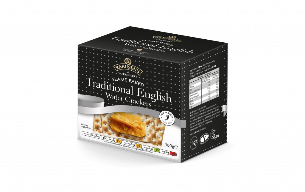 Rakusen's Traditional English Water Cracker 100g UK