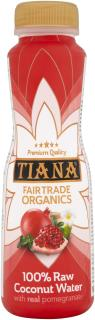 TIANA Fairtrade Organics Raw Coconut Water with Real Pomegranate