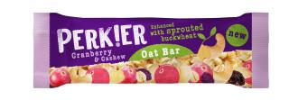 PERKIER Oaty Cranberry & Cashew Sprouted Bar 40g