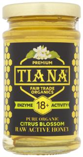 TIANA Fairtrade Organics Raw Active Citrus Blossom Honey (Enzyme Diastase Activity 18+)