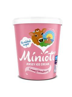 Minioti Jersey Ice Cream: Creamy Strawberry