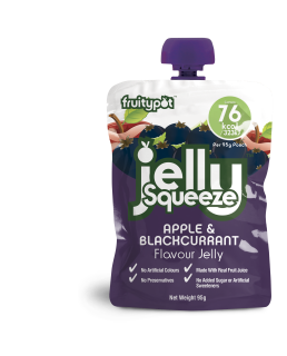 JellySqueeze Apple & Blackcurrant Flavour Jelly 16x95g