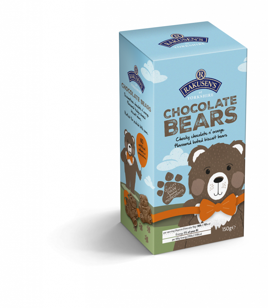 Rakusen's Orange Flavoured Dark Chocolate Bears 150g