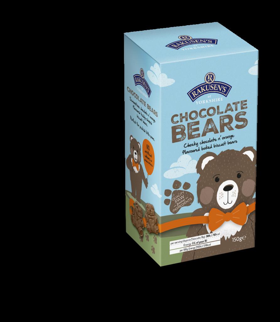 Rakusen's Orange Flavoured Dark Chocolate Bears 150g