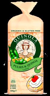 Organic Pulses and Quinoa Cakes