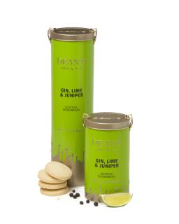Gin, Lime and Juniper Shortbread Rounds 150g & 300g Tin