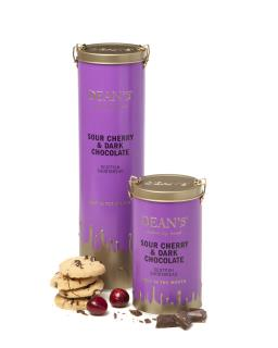 Sour Cherry & Dark Chocolate Shortbread Rounds 150g & 300g Tin