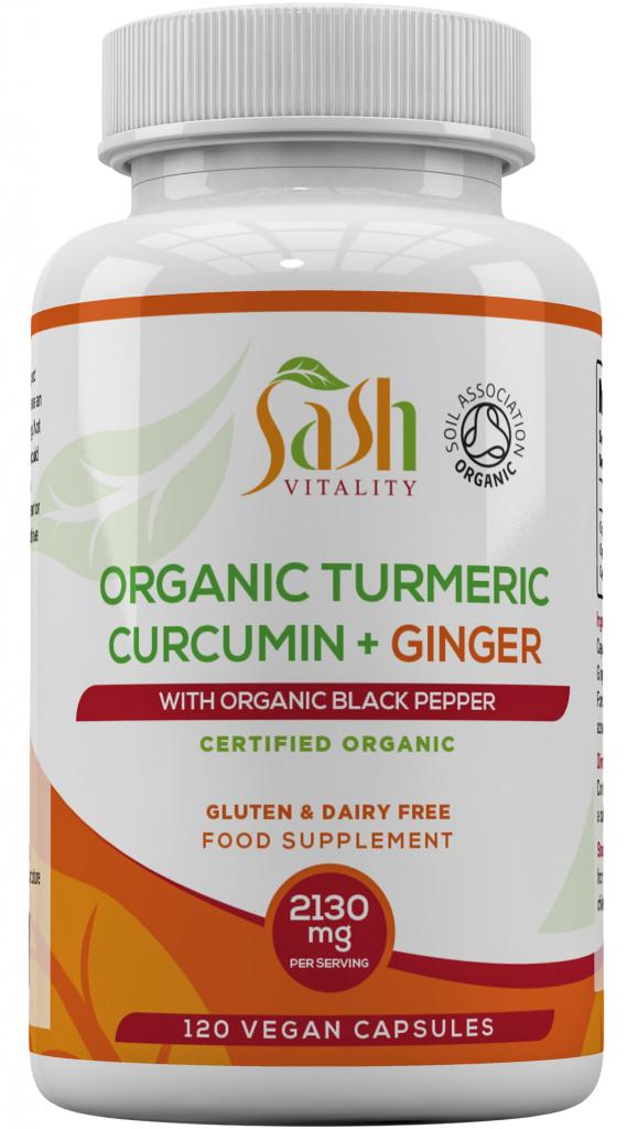 Organic Turmeric, Ginger & Black Pepper HVC