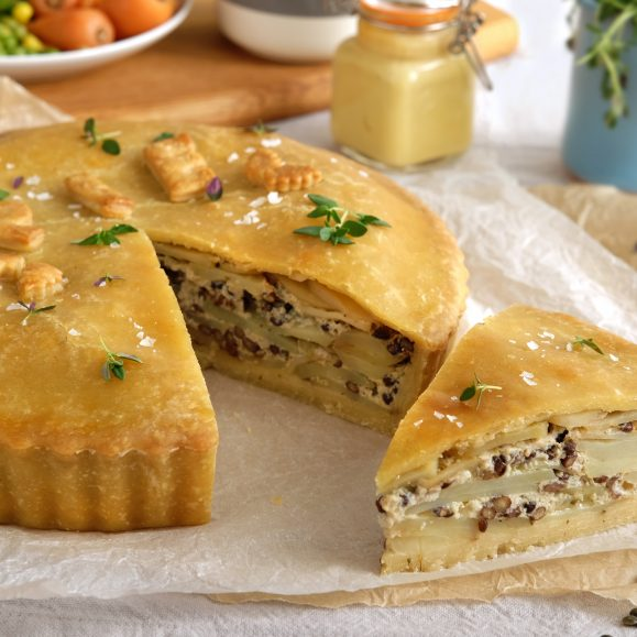 Dauphinoise and Puy Lentil Pie