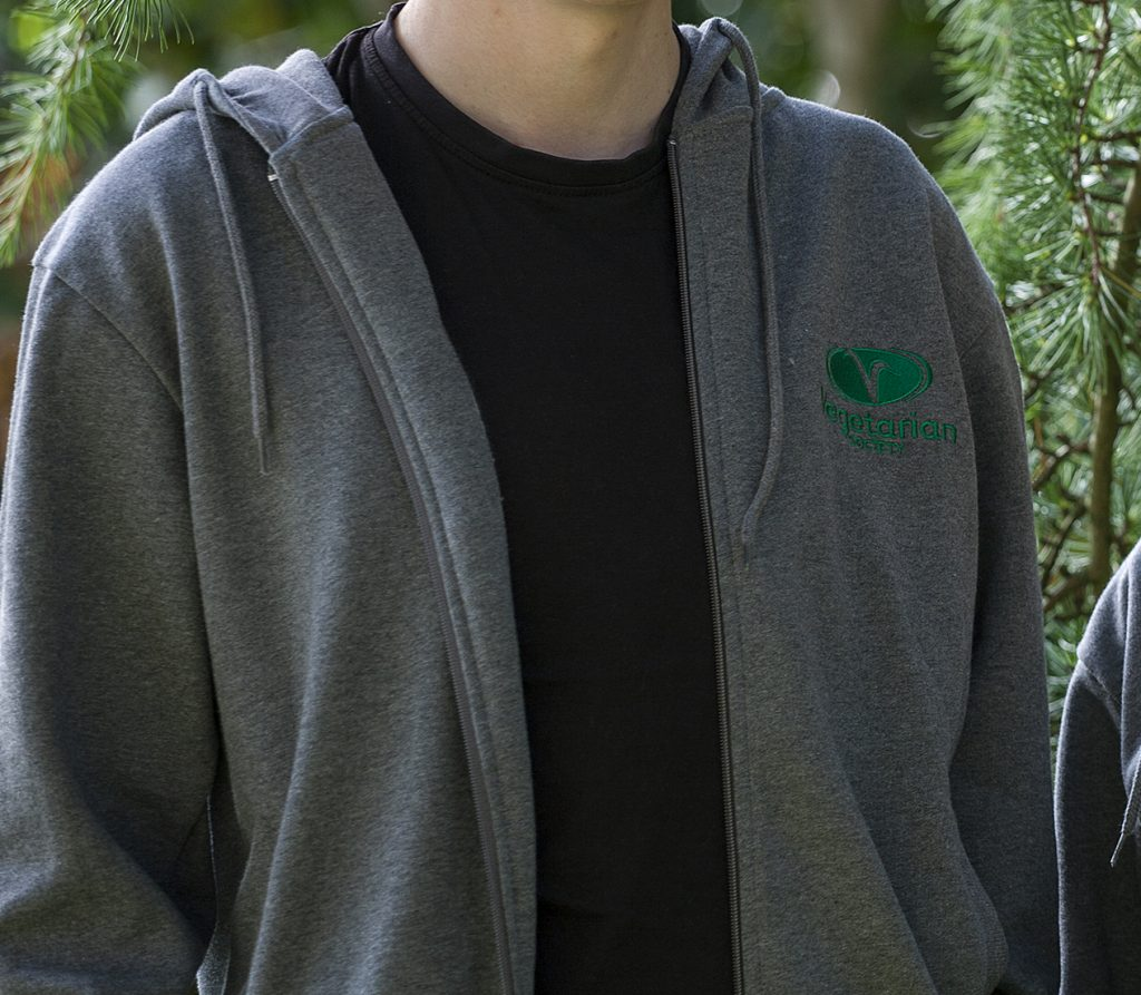 Zip-Through Vegetarian Society Unisex Hoodie