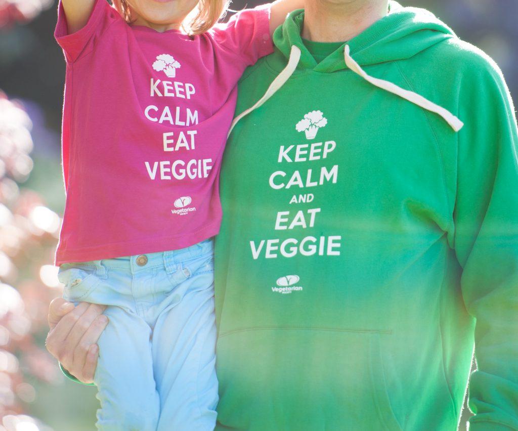 Keep Calm and Eat Veggie Hoodie
