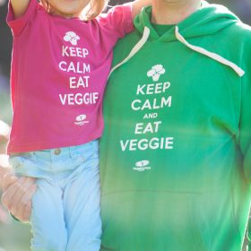 Keep Calm and Eat Veggie Hoodie