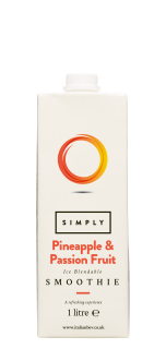 Simply Ice Blendable Pineapple and Passion Fruit Smoothie