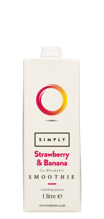 Simply Ice Blendable Strawberry and Banana Smoothie