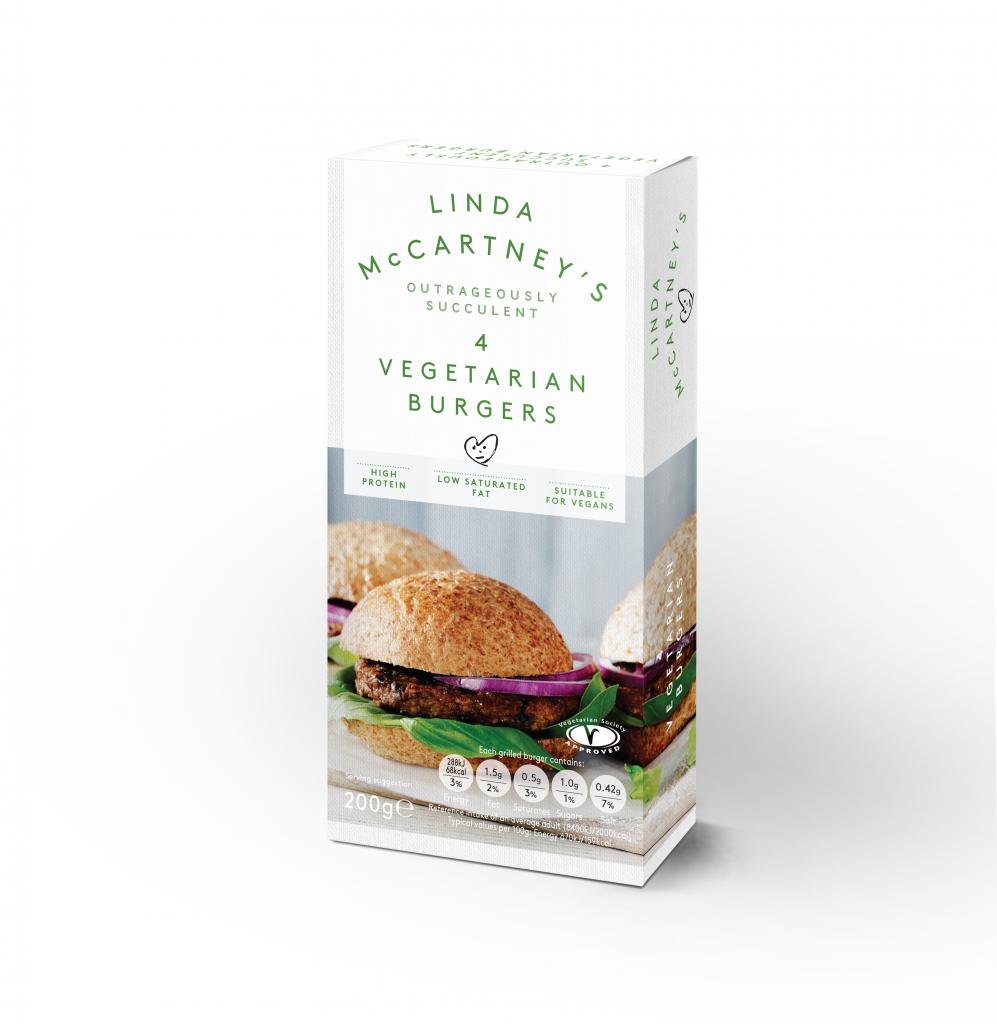 Linda McCartney 4 Vegetarian Burgers Frozen 200g (Vegan)