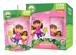 Dora Zero Sugar Mixed Berries Fruit Flavoured Drink (200ml)