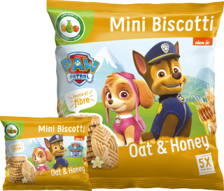 Paw Patrol Oat and Honey Mini Biscotti