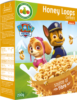 Paw Patrol Honey Loops Cereals