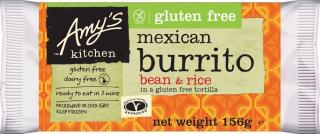 Amy's Kitchen Gluten Free Dairy Free Bean & Rice Burrito
