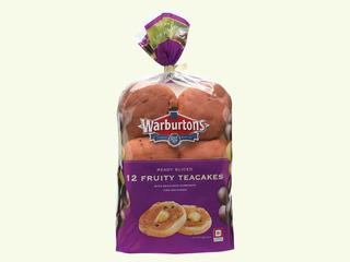 Warburtons 4 & 12 Fruity Teacakes