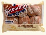 Warburtons 6 Wholemeal Sandwich Rolls